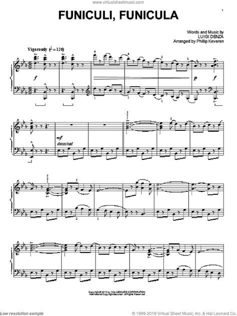 Funicul Per Pianoforte  music sheet