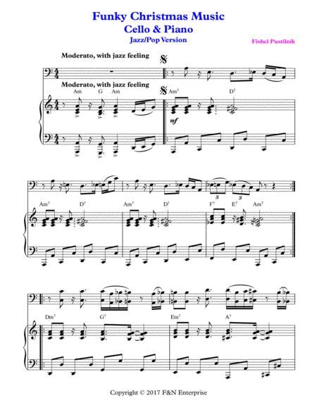 Funky Christmas Music Piano Background For Oboe And Piano With Improvisation  music sheet
