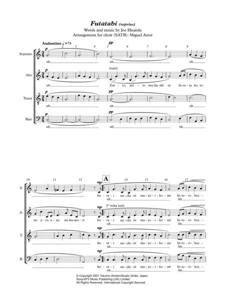 futatabi reprise music sheet