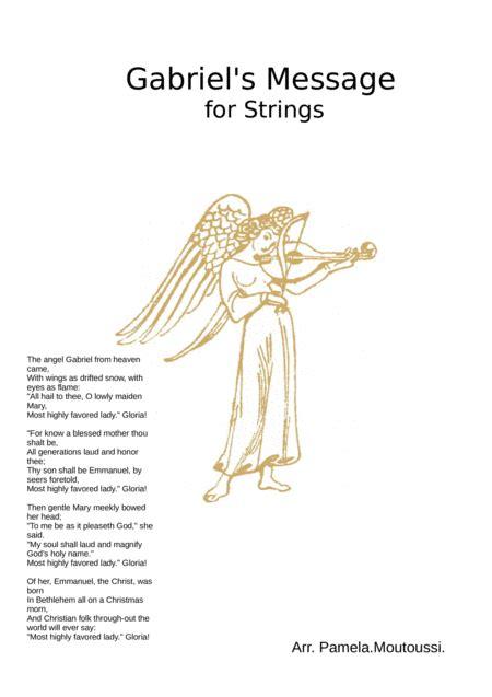 Gabriels Message For Mixed Level String Ensemble  music sheet