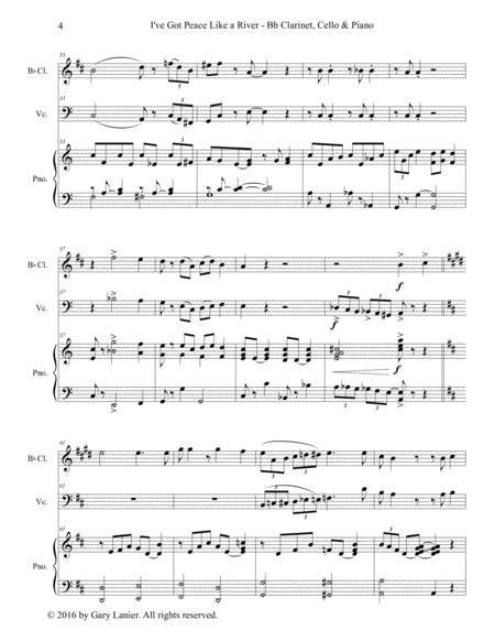 Gary Lanier I Ve Got Peace Like A River Trio Bb Clarinet Trombone Piano With Parts  music sheet
