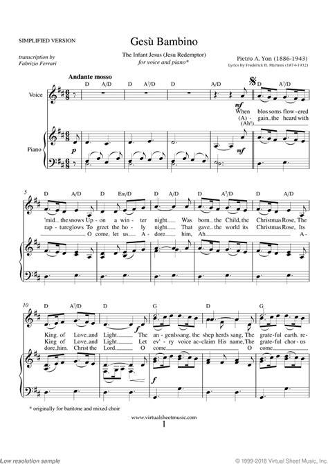 ges bambino music sheet