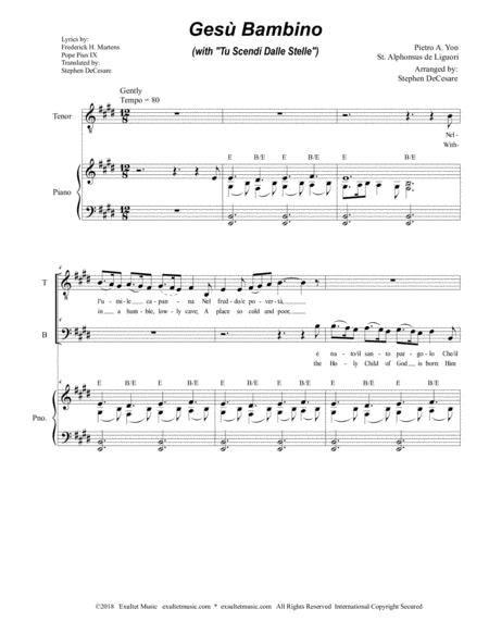 Gesu Bambino For 2 Part Choir  music sheet