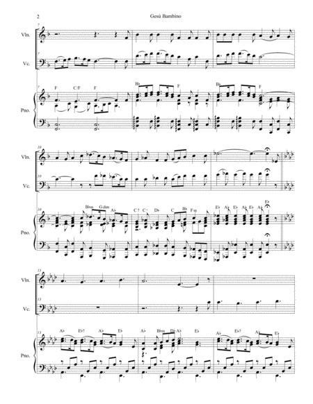 Gesu Bambino With Tu Scendi Dalle Stelle Duet For Flute And Bb Clarinet  music sheet