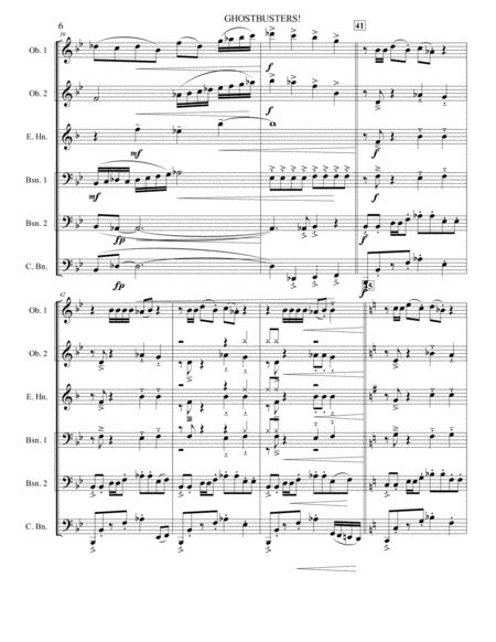 Ghostbusters Double Reed Ensemble  music sheet