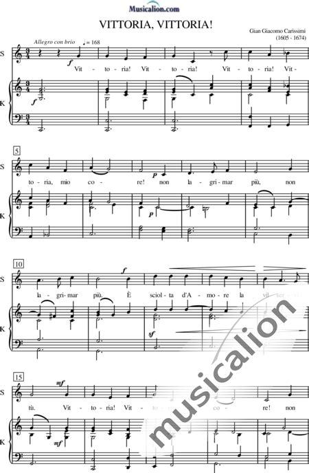 Giacomo Carissimi Vittoria Violoncello Solo  music sheet