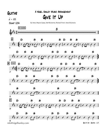 Give It Up Eb 9pc Disco Funk Band Chart  music sheet