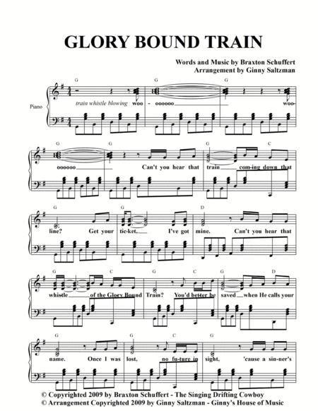 Glory Bound Train By Braxton Schuffert The Singing Drifting Cowboy  music sheet