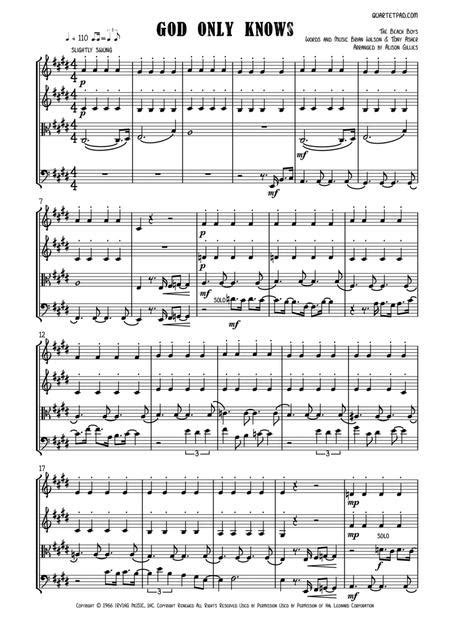 God Only Knows String Trio  music sheet