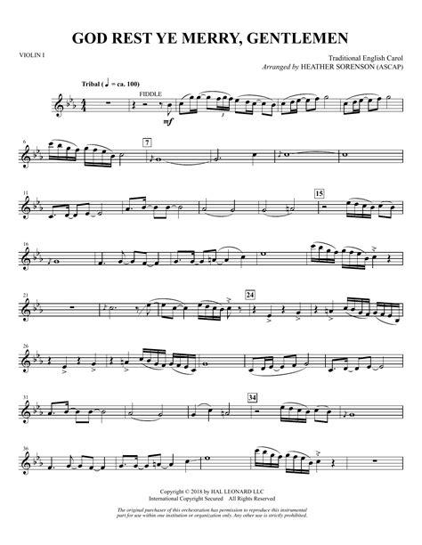 God Rest Ye Merry Gentlemen Violin Piano  music sheet