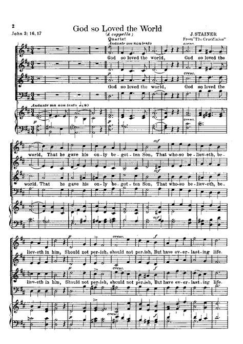 God So Loved The World Satb Version  music sheet