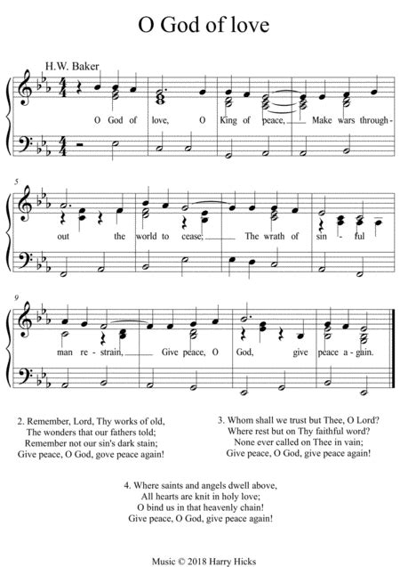 God The All Terrible A New Tune To A Wonderful Old Hymn  music sheet