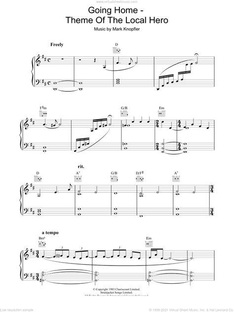 Going Home Theme From Local Hero  music sheet
