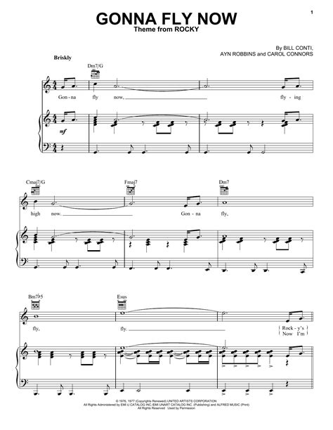 Gonna Fly Now Theme From Rocky For Advanced Piano Solo  music sheet