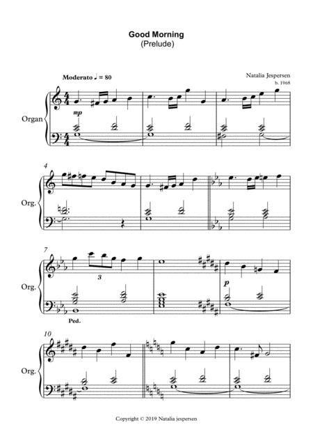 Good Morning Prelude  music sheet
