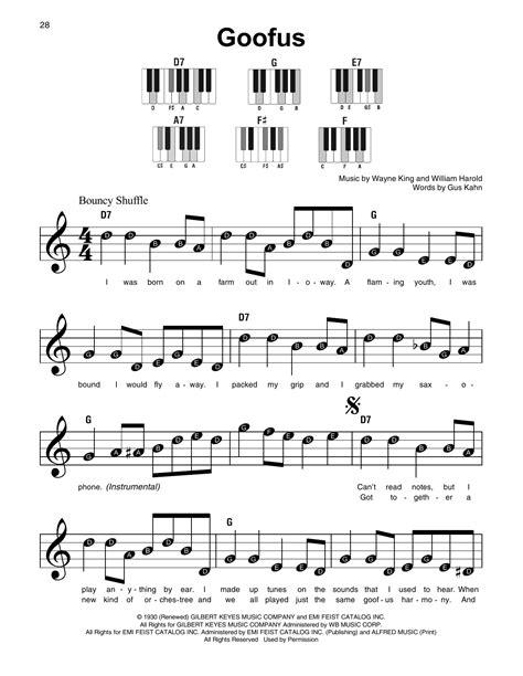 Goofus  music sheet