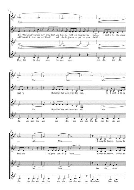 Grace Kelly Ssaa A Capella  music sheet