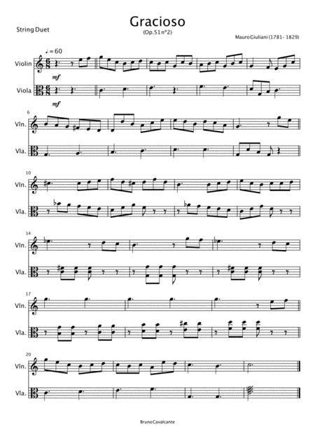 Gracioso Op 51 N2 Mauro Giuliani For Marimba  music sheet