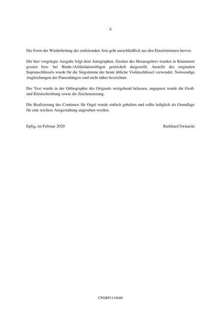 Graupner Christoph Cantata Mu Ich Denn Noch Ferner Leiden Gwv 1145 16  music sheet
