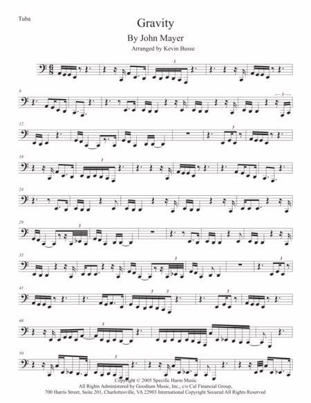 Gravity Tuba Original Key  music sheet