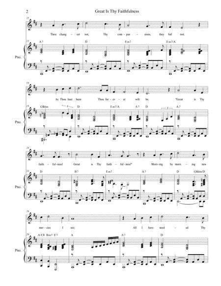 Great Is Thy Faithfulness With His Eye Is On The Sparrow For Vocal Solo  music sheet