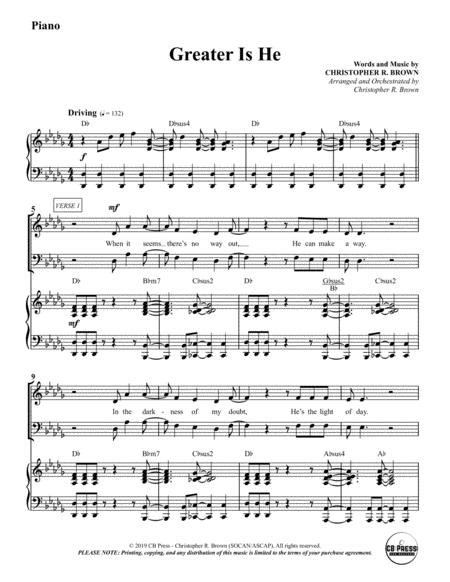 Greater Is He Anthem Piano Accompaniment  music sheet