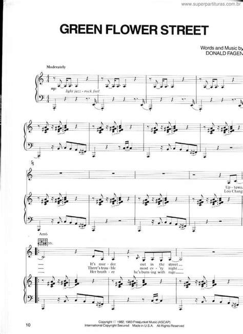 Green Flower Street  music sheet