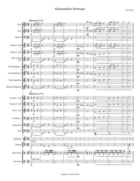 Green Willow Overture  music sheet