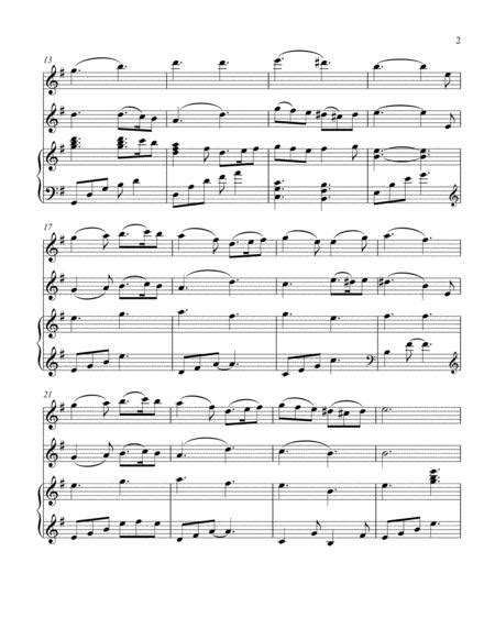 Greensleeves For Harp Flute And Violin  music sheet