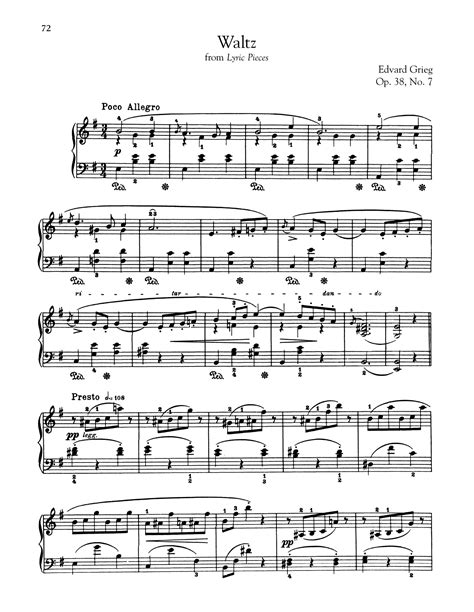 Grieg Folkevise Op 38 No 2 For Piano  music sheet