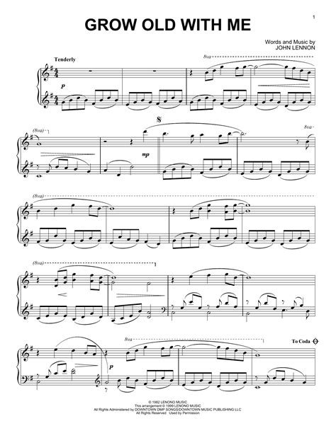 Grow Old With Me Duet For C Instruments  music sheet