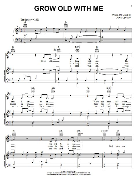 Grow Old With Me For Sab  music sheet