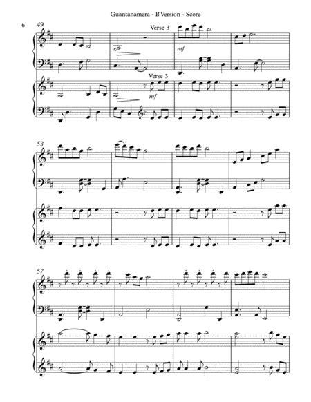 Guantanamera B Version Score Parts  music sheet