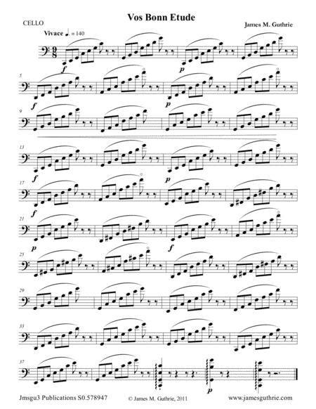 Guthrie The Vos Bonn Etude For Cello  music sheet