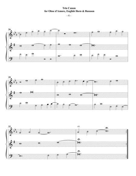 Guthrie Trio Canon For Flute Oboe Bassoon  music sheet