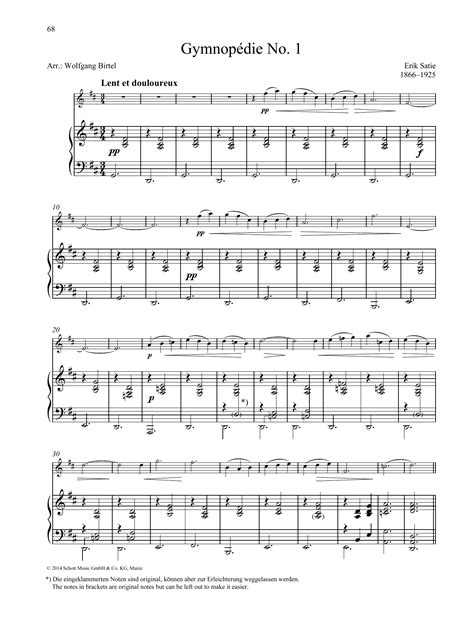 Gymnopdie No 1 For Solo Guitar  music sheet