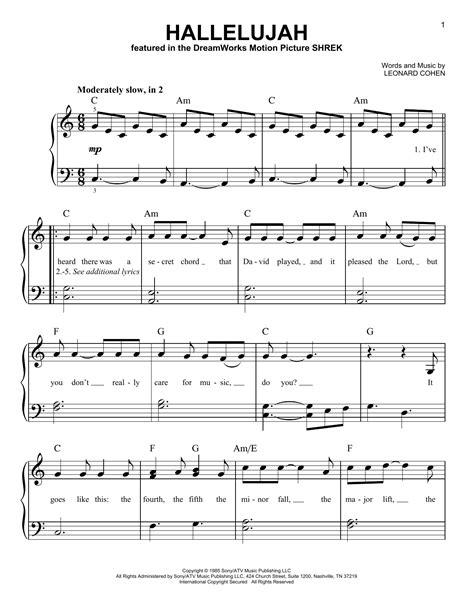 Hallelujah Birthday Song music sheet