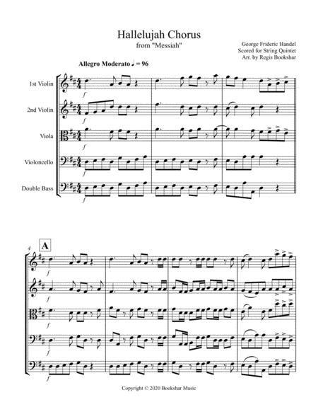 Hallelujah From Messiah D Viola Quintet  music sheet