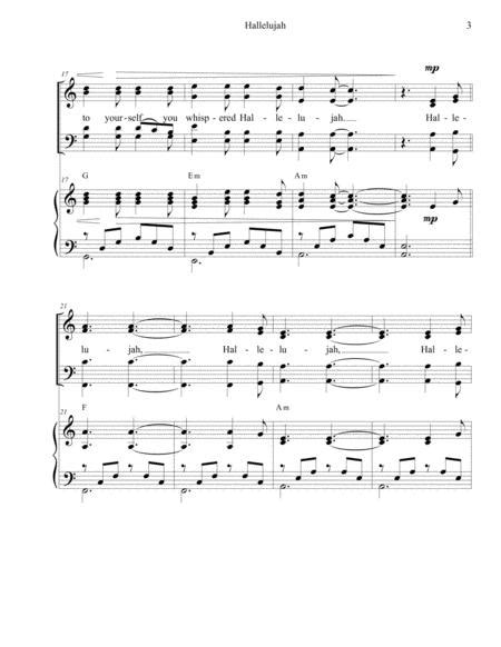 Hallelujah Veterans Version  music sheet