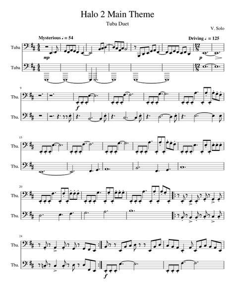 Halo Duet  music sheet