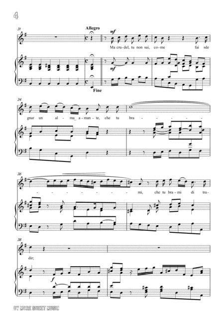 Handel Ah Spietato In E Minor For Voice And Piano  music sheet
