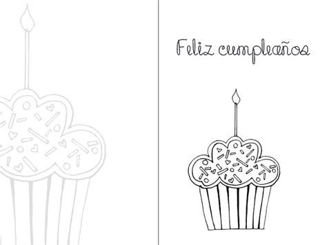 happy birthday coloring pages in spanish printable