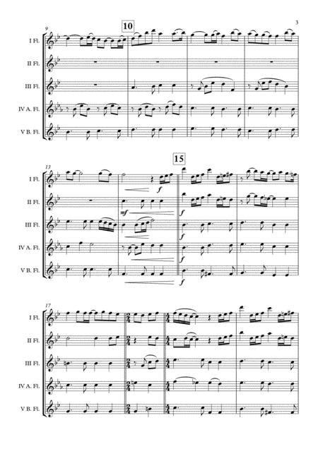 Happy New Year Abba Flute Choir Arr Adrian Wagner  music sheet