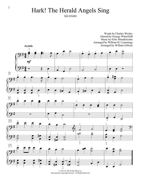 hark the herald angels sing duet viola and piano score and parts music sheet