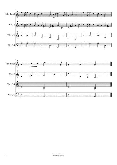 Hark The Herald Angels Sing Easy Christmas Carol For Mixed Level Violin  music sheet