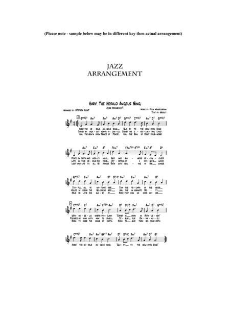 Hark The Herald Angels Sing Lead Sheet Arranged In Traditional And Jazz Style Key Of Bb  music sheet
