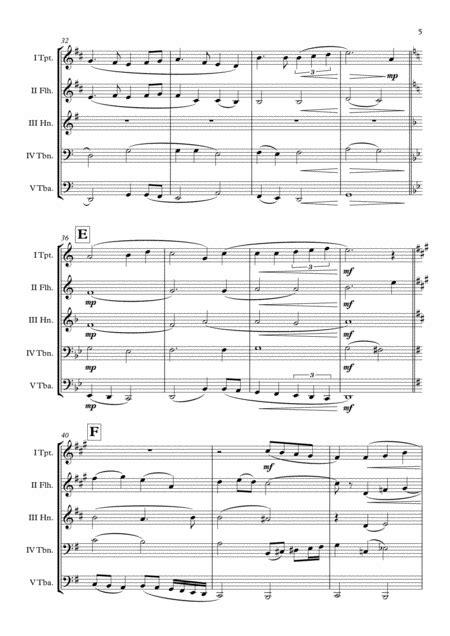 Harry Potter Hogwarts Hymn Brass Quartet Arr Adrian Wagner  music sheet