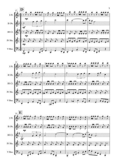 Harry Potter Hogwarts March Wind Quintet Arr Adrian Wagner  music sheet