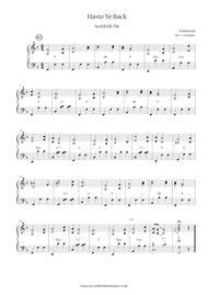 Haste Ye Back  music sheet