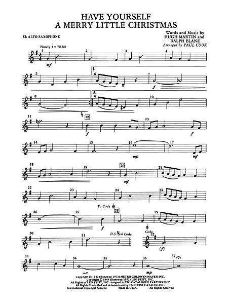 Have Yourself A Merry Little Christmas Duet For Soprano And Alto Saxophone  music sheet